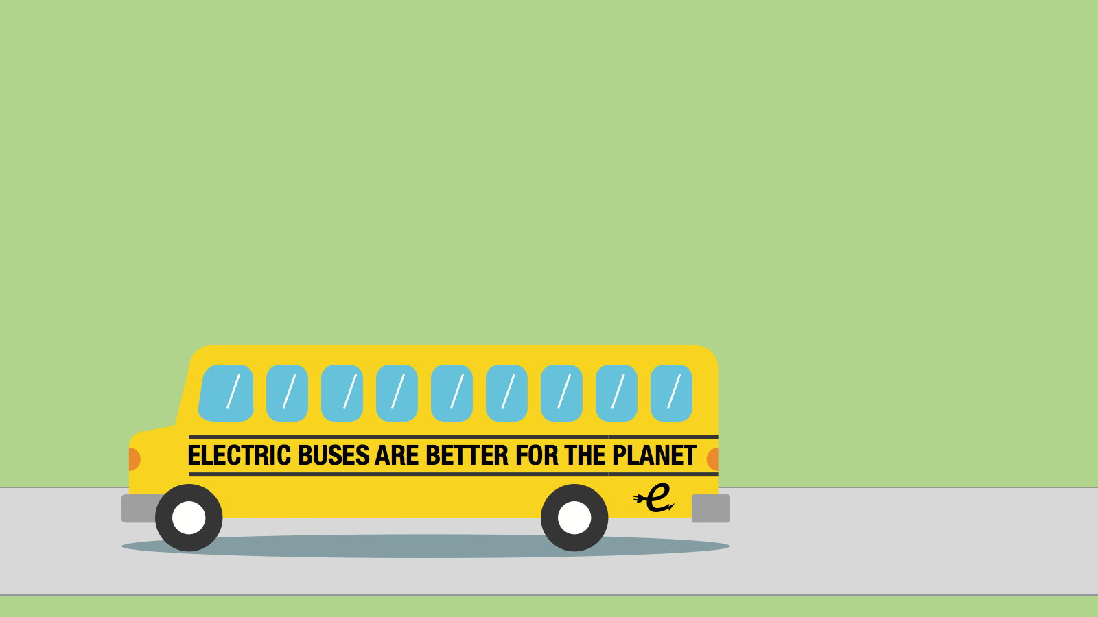 <h3>BENEFITS OF ELECTRIC BUSES</h3><p>Replacing all of America's school buses with electric buses could avoid an average of 5.3 million tons of greenhouse gas emissions each year.</p>